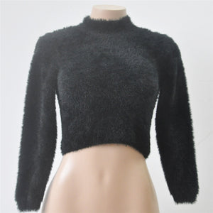 Cropped Soft Fluffy Jumpers