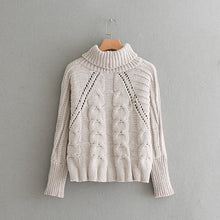 Load image into Gallery viewer, Turtleneck Crochet Sweater