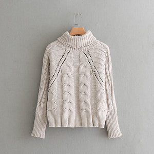 Turtleneck Crochet Sweater