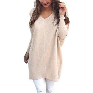 Oversized Baggy V-Neck Sweater