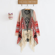Load image into Gallery viewer, Knitted Vintage Bohemian Style Cardigan