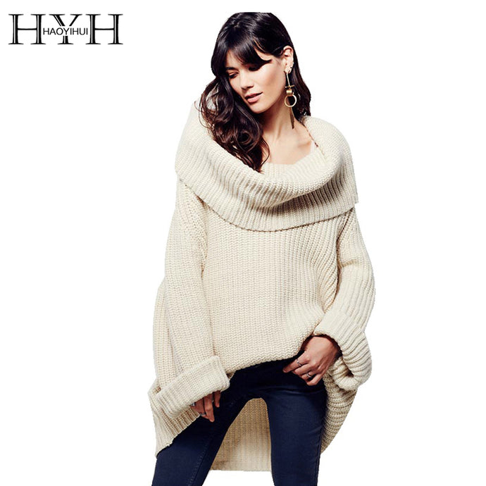 Oversized Elegant A-Symmetrical Knitted Sweater