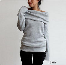 Load image into Gallery viewer, Oversized Wide Neck Jumper