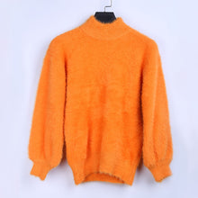 Load image into Gallery viewer, Fluffy Long Sleeve Turtleneck Jumper