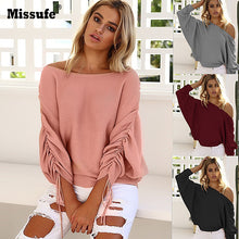 Load image into Gallery viewer, Casual Off Shoulder Loose Fit Jumper