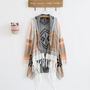 Knitted Vintage Bohemian Style Cardigan
