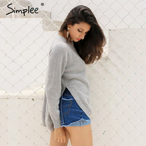 Side Split Knitted Pullover