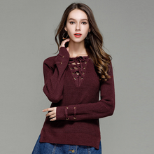 Load image into Gallery viewer, Lace Up Wool Jumper