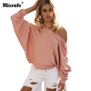 Casual Off Shoulder Loose Fit Jumper