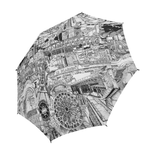 PARIS Black and White Umbrella