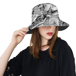 BERLIN Black and White Bucket Hat