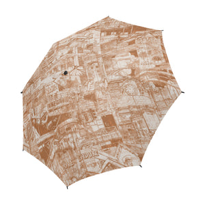 LONDON Sepia Umbrella