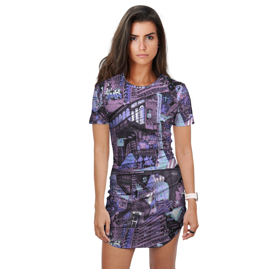 BERLIN Blue T-Shirt Dress