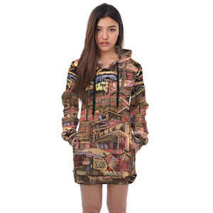 LONDON Color Hoodie Dress
