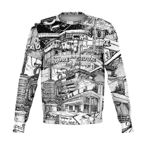 LONDON Black and White Sweatshirt
