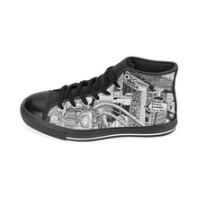 Load image into Gallery viewer, LONDON Black and White Canvas Shoes