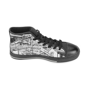 LONDON Black and White Canvas Shoes