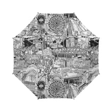 Load image into Gallery viewer, PARIS Black and White Umbrella