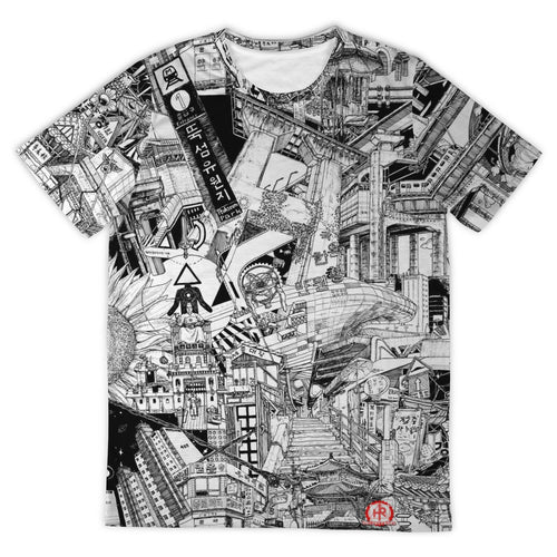 SEOUL Black and White Design T-Shirt