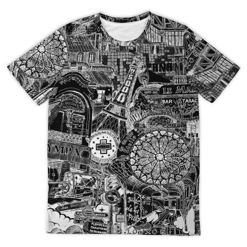 PARIS Dark City Design T-Shirt