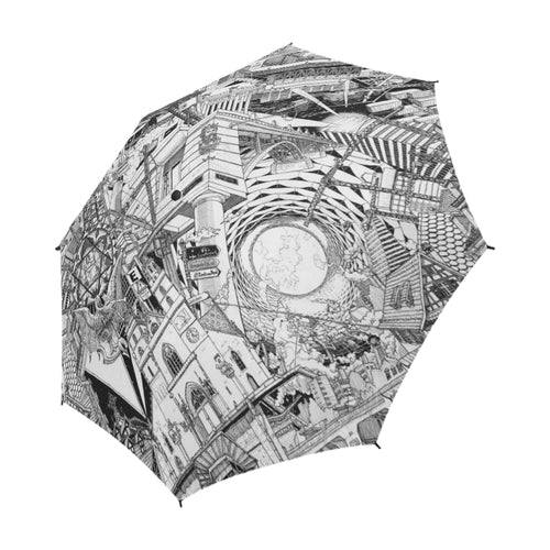 BASEL Black and White Umbrella