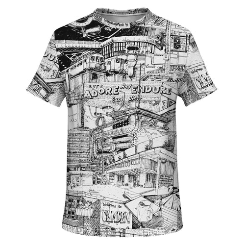 LONDON Black And White T-Shirt