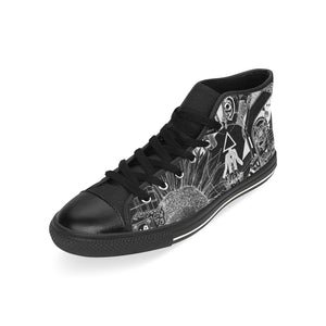 SEOUL Light And Dark Design Canvas Shoes