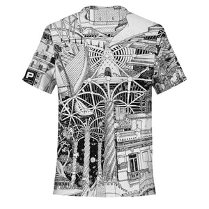 VALENCIA Black and White T-Shirt