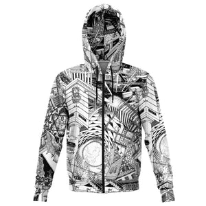 BASEL Design Black and White Hoodie