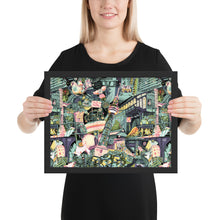 Load image into Gallery viewer, Berlin Colored and Framed Poster