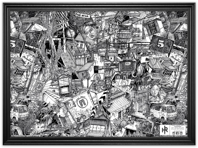 Drawing Berlin on the Street by Heiner Radau. Architecture, Graffiti, Streetart, Urban art, fountain pen and ink and a lot of patience make it possible. creative city, doodle, map, print, artwork.