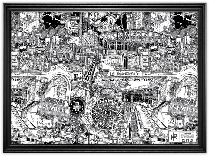PARIS BIG CITY POSTER