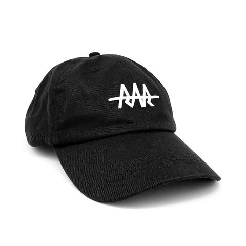 Team RAR Dad Hat - Black Front Side View