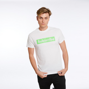 Official Carter Sharer Signature Green Subscribe Tee