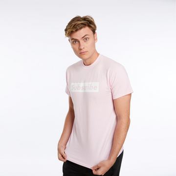 Official Carter Sharer Pink Subscribe Tee