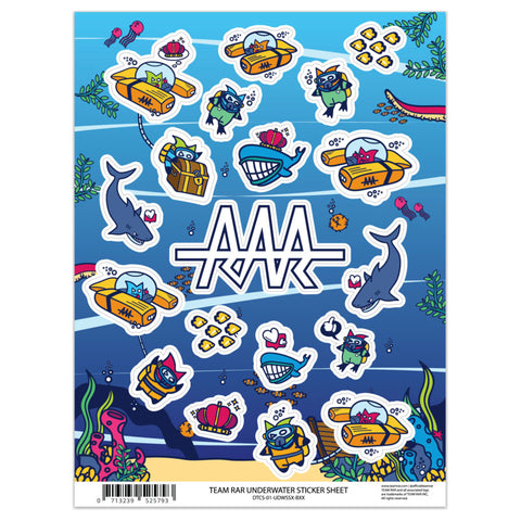 Deluxe Underwater Sticker Sheet