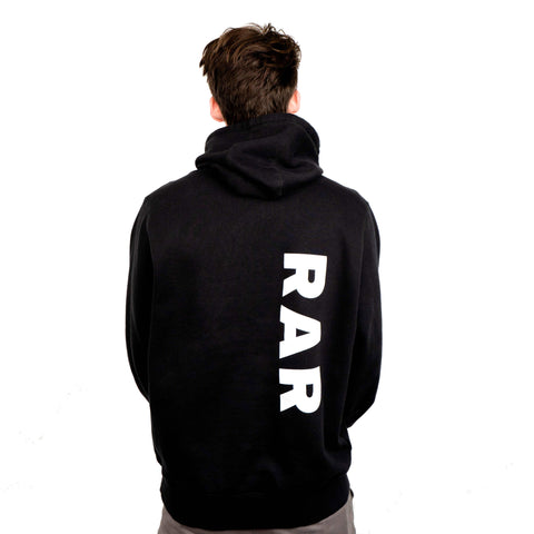 Team RAR v0 Hoodie Black Back Side with Ryan Prunty