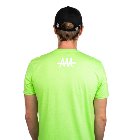 Team RAR Crew Shirt Green Back Side with Carter Sharer