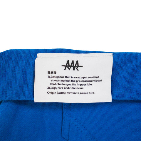 TEAM RAR Blue Velcro Hoodie Back Side Label Detail