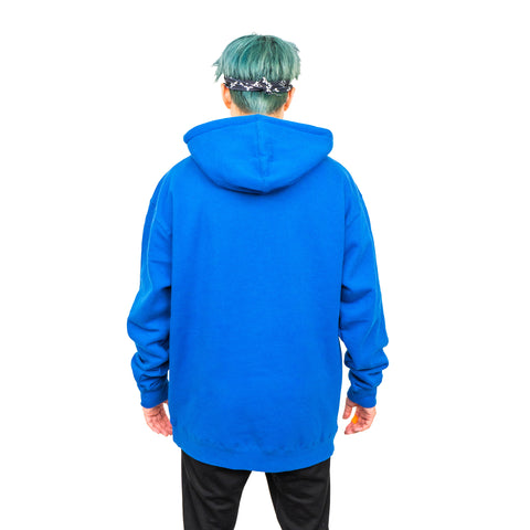 TEAM RAR Blue Velcro Hoodie Back Side Hood down with Stove's Kitchen