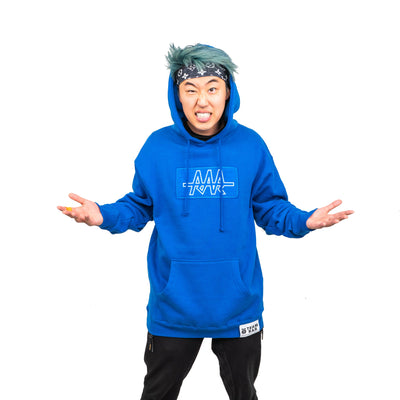 TEAM RAR Blue Velcro Hoodie Front Side with Stove's Kitchen