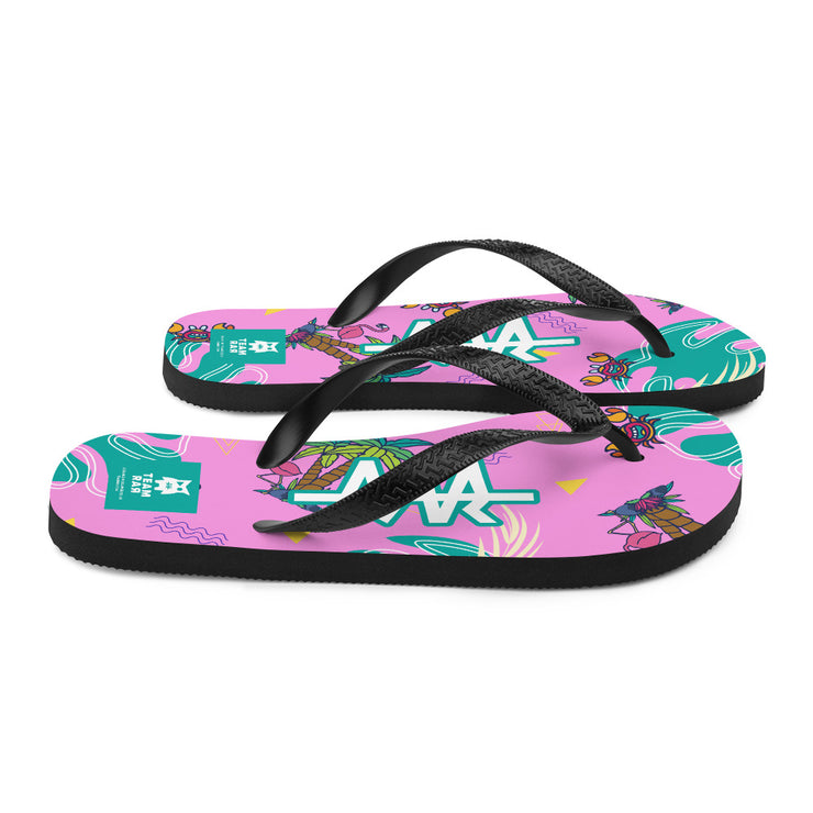Team RAR Party Flip-Flops