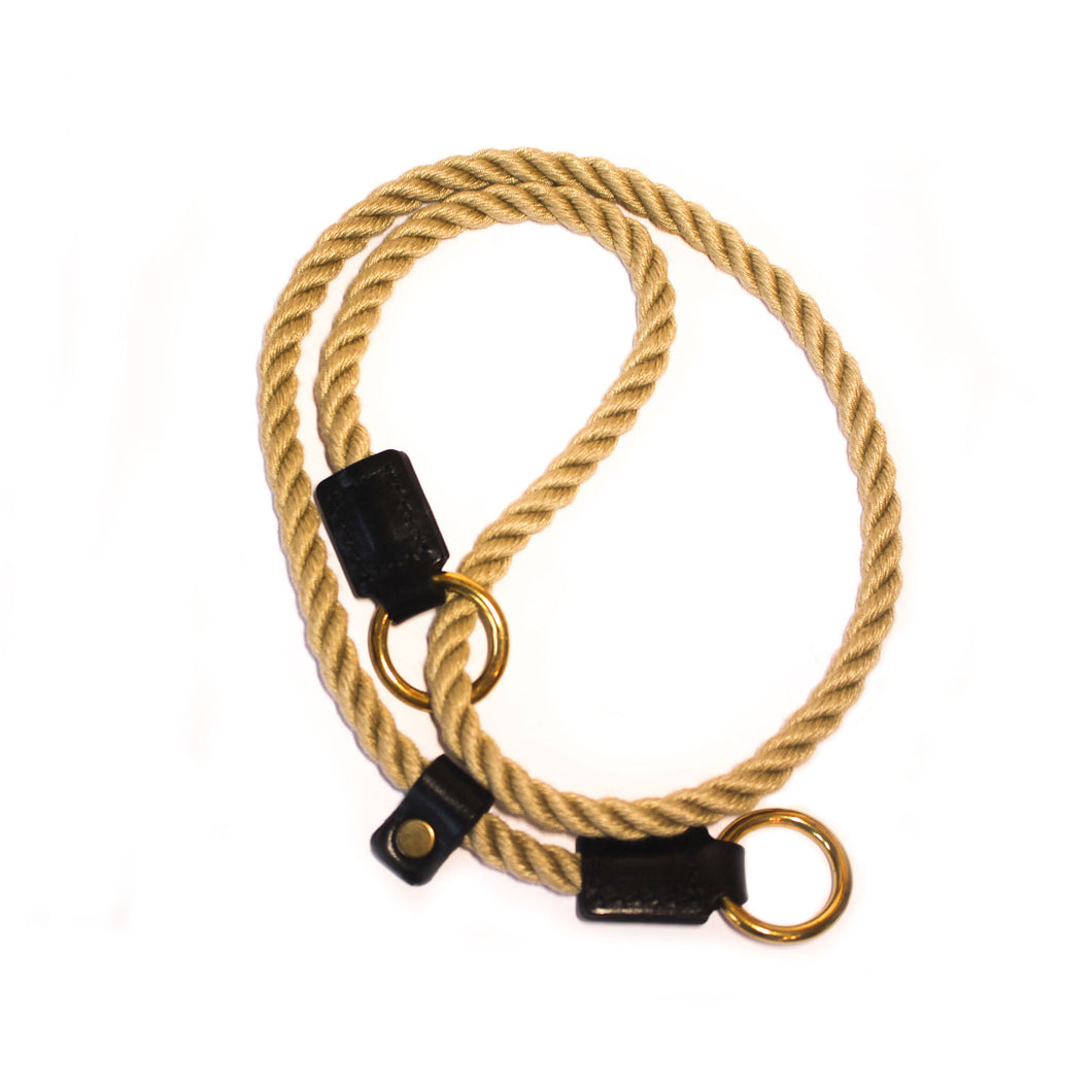 Black Figure of 8 Rope Training Collar