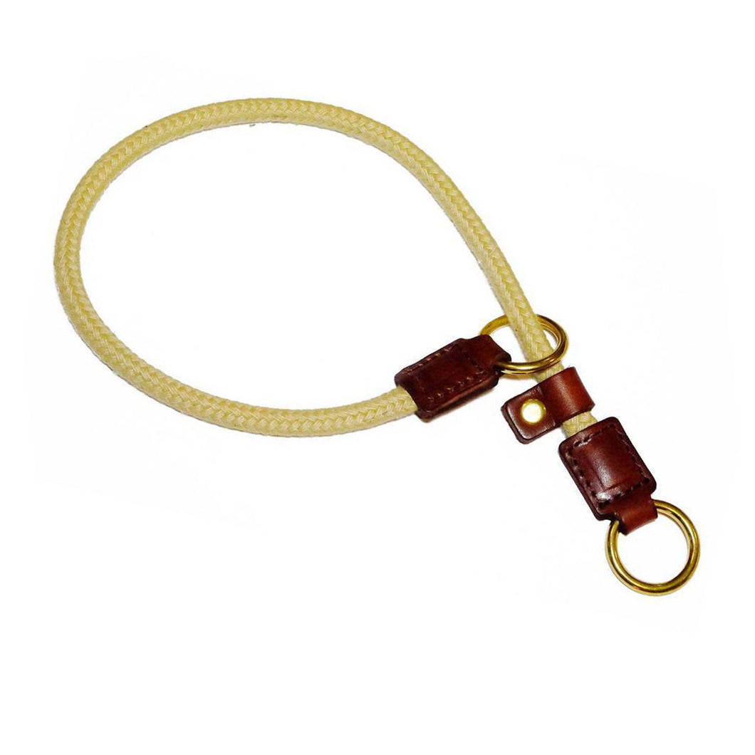 Dark Brown Rope Slip Collar