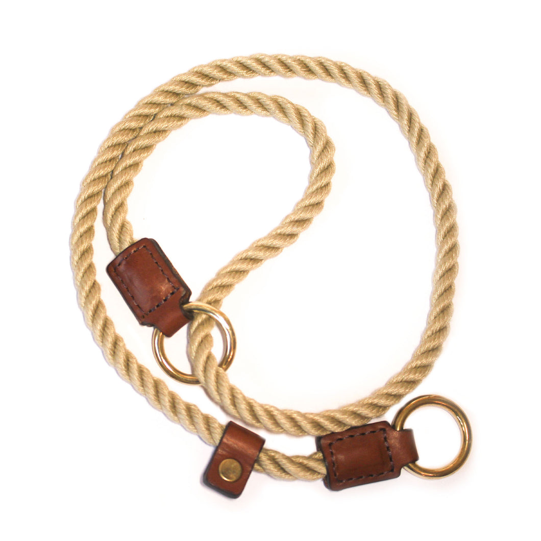 Tan Figure of 8 Rope Training Collar