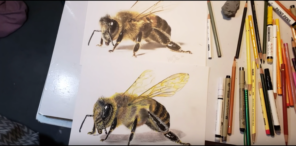 How artist Lori Green used Triton Paint Pens to help create this realistic bee