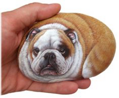 Painted rock of dog!