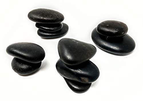 "Rocks for Painting - Flat River Craft Rocks - Rock Painting Supplies for Arts and Crafts 1""- 1.5"" in Length. Great Size for Small Hands! 10 Total."