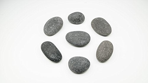 Painting Rocks by BasaltCanvas - Size 3 - Kindness Rocks for Painting - Very Smooth Surface - Easy to Paint - 7 Stones Ranging from 4.5 to 5.0 inches