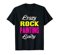 Crazy Rock Painting Lady T-shirt